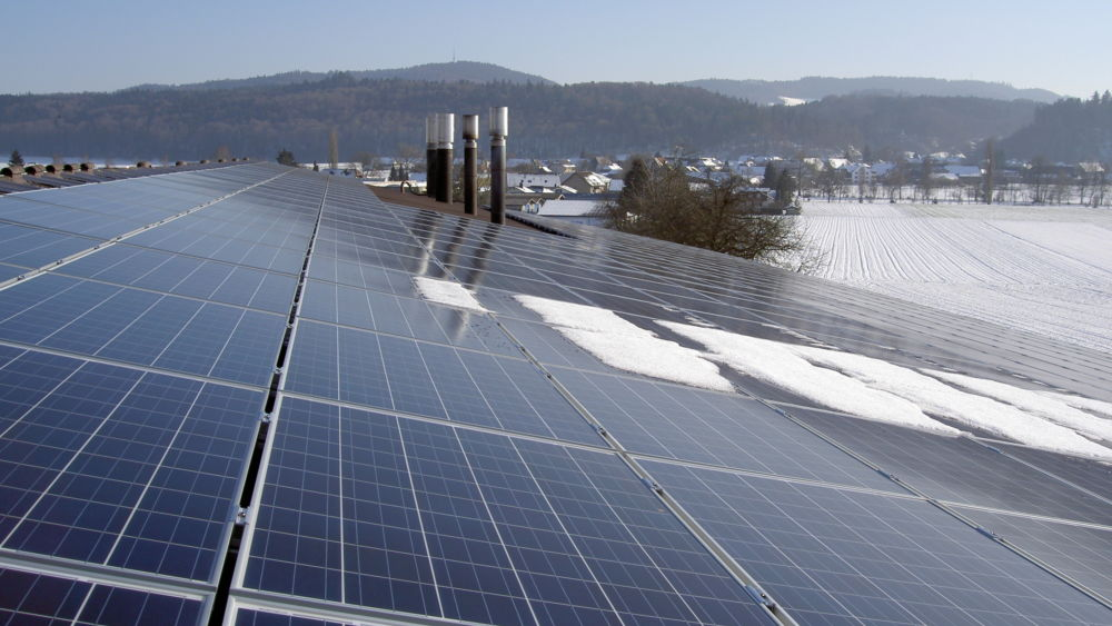 Photovoltaik-Anlage auf dem Dach